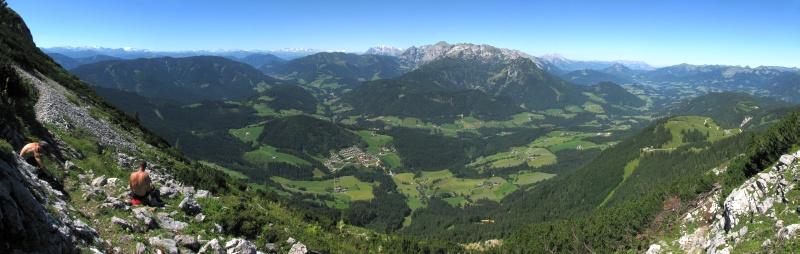 Tennengebirge i Hochkönig ze stoków Grosser Donnerkogel